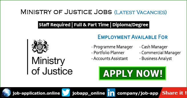 Ministry of Justice Jobs